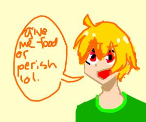 Man wants food