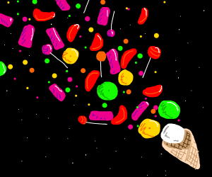 Candies in space