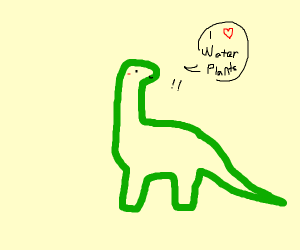 Smol Dino Loves Water Plants <3