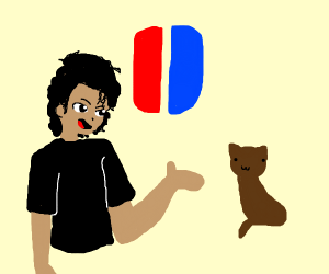 Michael Jackson and cat discuss Switch