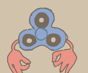 Fidget spinner with GOTEM hands