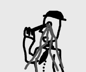 Man pops eye with pen