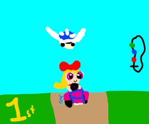 the PowerPuff Girls play Mario Kart