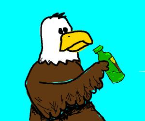 Eagle Drinking