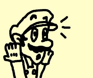 Surprised Mario