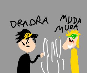 Jotaro fighting DIO