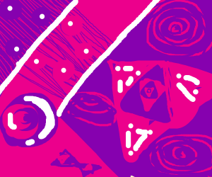 abstract pink and purple art