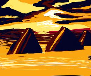an egyptian sunset