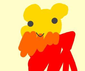 Winnie the Pooh with orange beard
