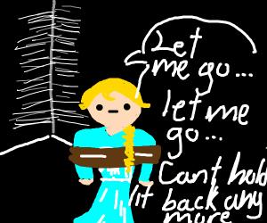 """Tied up Elsa sings """"Let Me Go!"""""""