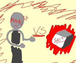 man vs salt