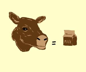Brown cow = brown milk