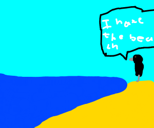 crow hates the beach