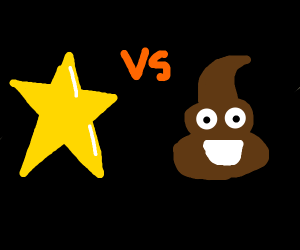 star vs probably not poo but looks like poo