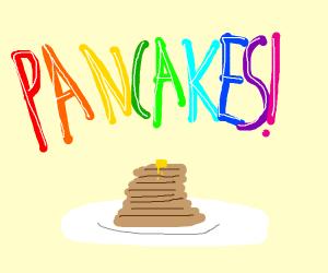 Yummy pancake stack