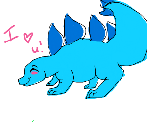 stegosaurus luvs you