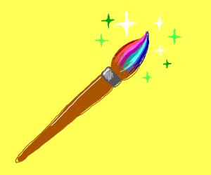 magical rainbow paintbrush