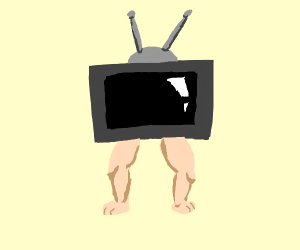 TV with legs