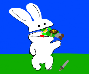 Bunny eats Link