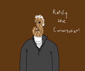 Alexander Hamilton, except he's a peanut