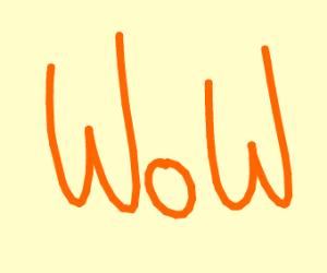 Orange WOW meme