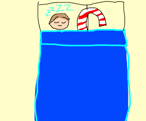 Sleeping with a Candy Cane