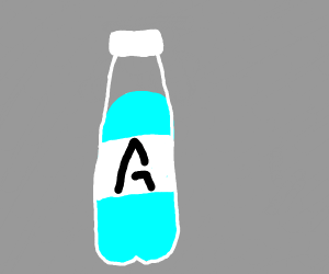 Some lettere (rune?) on a bottle