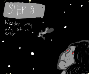 Step 7: wonder why you exist