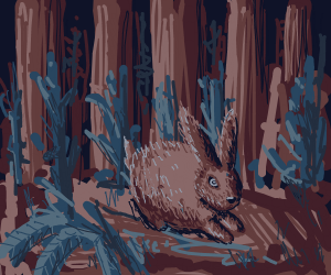 Rabbit in a Mystical Forest