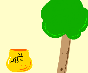 plant and happy pot of honey