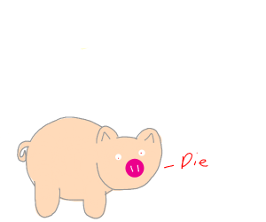 pig satan wants everyone to suffer