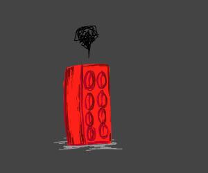 Lego brick has an existential crisis