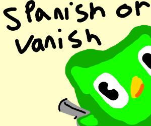Spanish or vanish