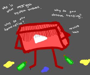 youtube is depressed