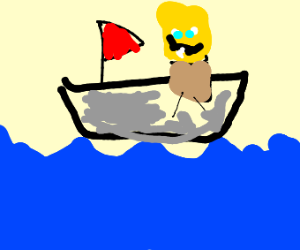 Spongebob at sea