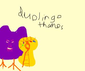 Angry purple owl