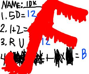 When you suck at math