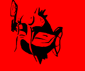 Magikarp with butcher's knife
