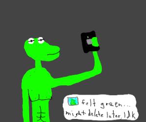 Muppet taking a selfie