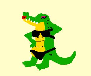 Crocodile lingerie