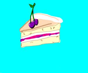 Purple cherry cake