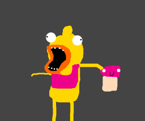 Chica (fnaf) with cupcake