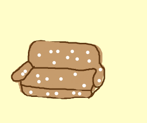 Couch with spots