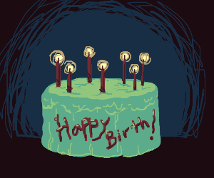 happy birthday!! have a sweet cake :0