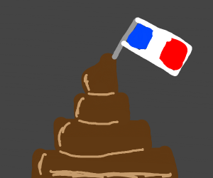 Pile of poo claimed by France
