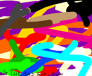 abstract art with every color