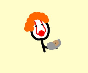 It the clown with a baby