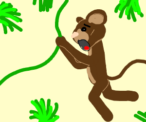 monkey screaming in jungle