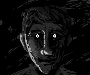 The dark souless eyes of a stranger