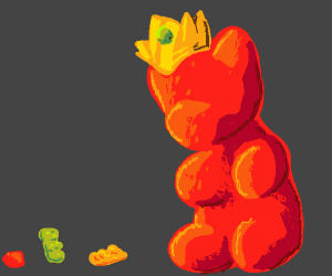 gummy bear king is an absolute unit